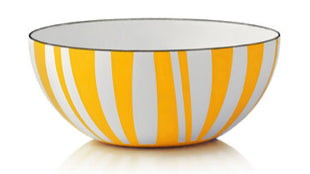 Yellow Stripes Enamel Bowls