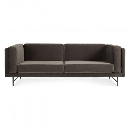 "Bank Mink Velvet 80"" Sofa"