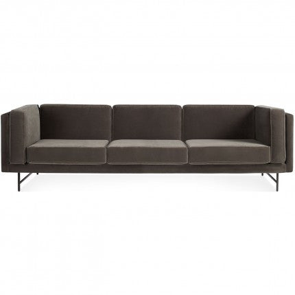 "Bank Mink Velvet 96"" Sofa"