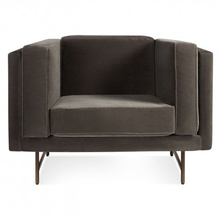 Bank Mink Velvet Lounge Chair
