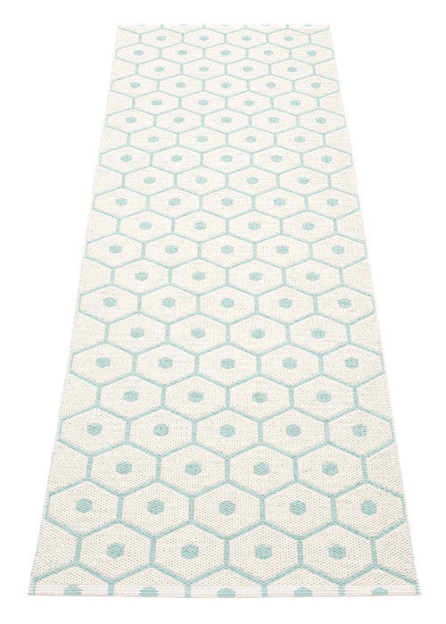 Honey Rug - Pale Turquoise/Vanilla