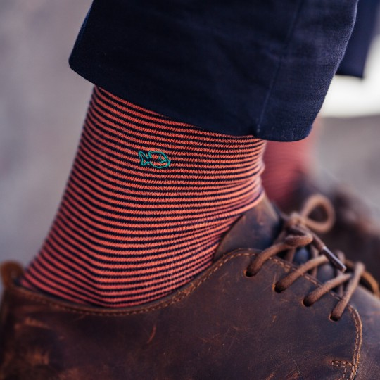 Striped Fancy Cotton Socks