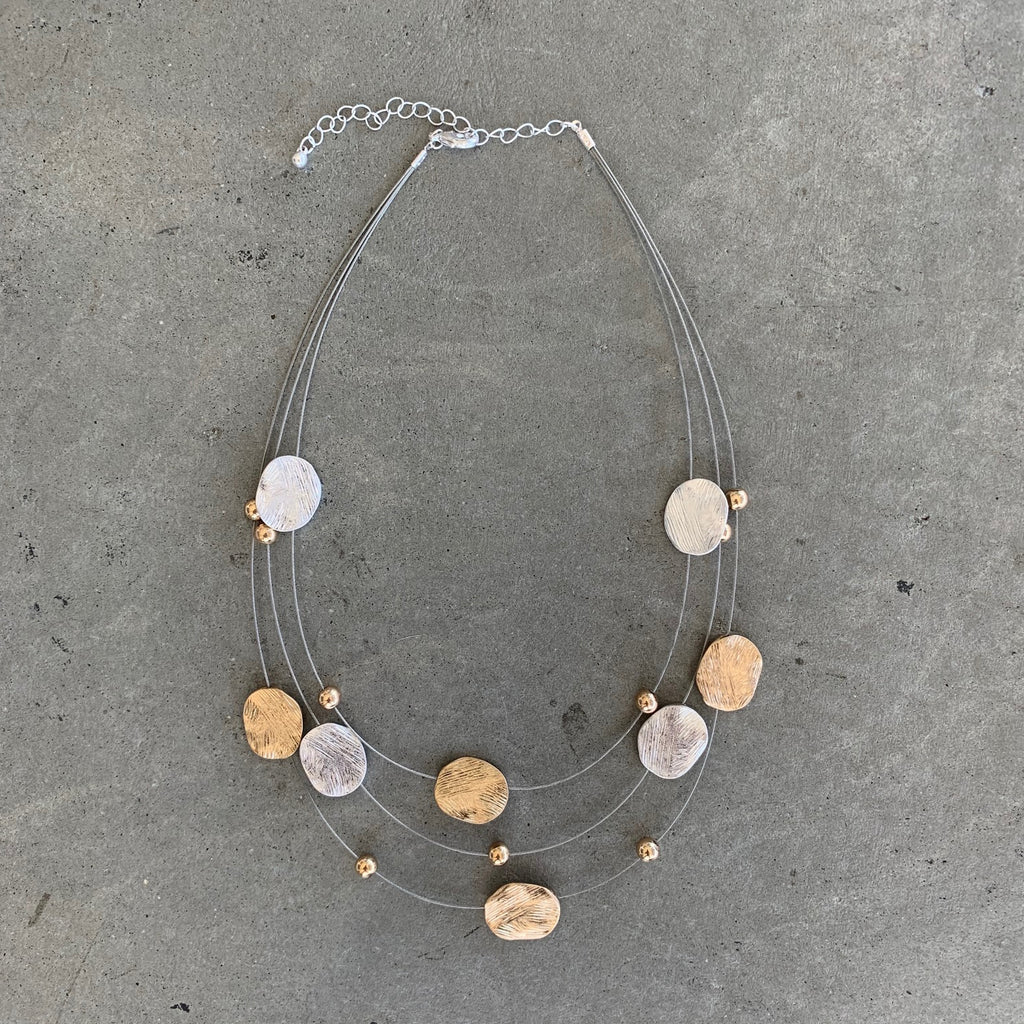 Brushed Coin Necklace