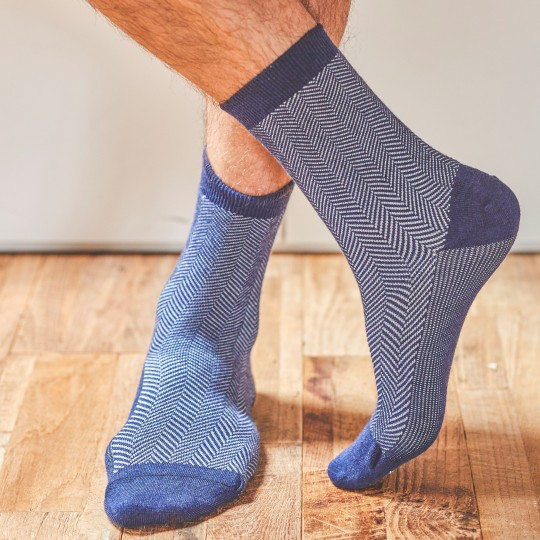 Herringbone Fancy Cotton Socks