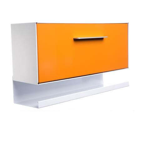 Mid-Century Modern Wall Mounted Mailbox With Tray