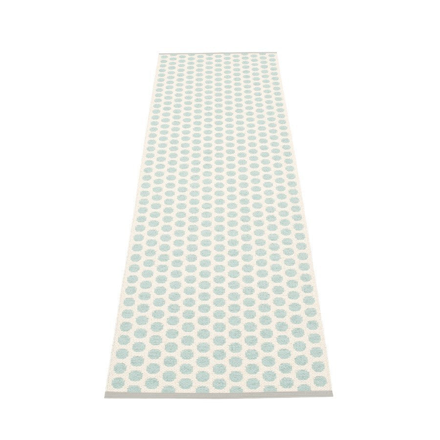 Noa Rug - Pale Turquoise/Vanilla, Warm Grey Stripe Edge