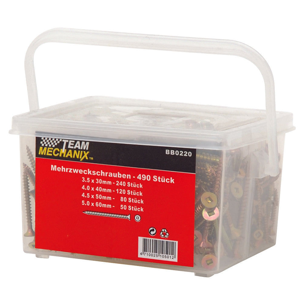 490pc Robertson Screw Assortment - Online Tools