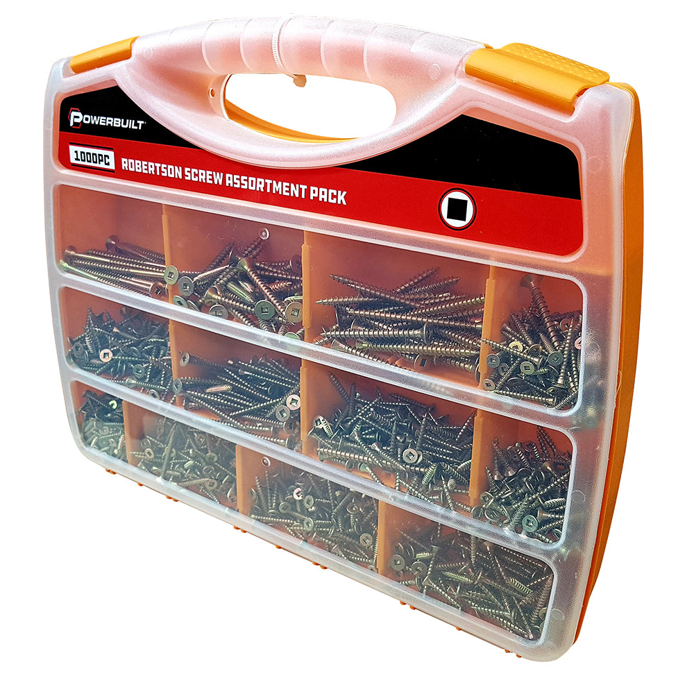 1000pc Robertson Screw Assortment - Online Tools