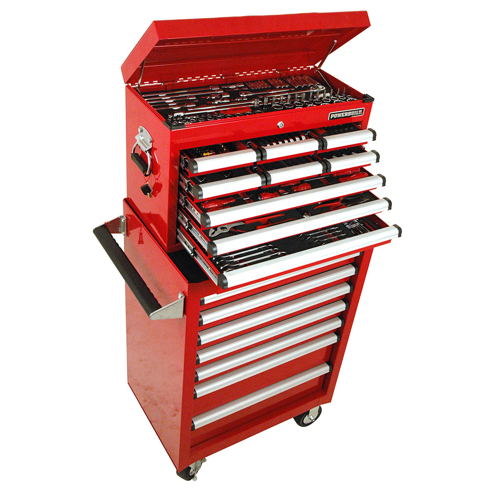 Powerbuilt 294pc Tool Chest, Roller Cabinet & Assorted Tools--Onlinetools