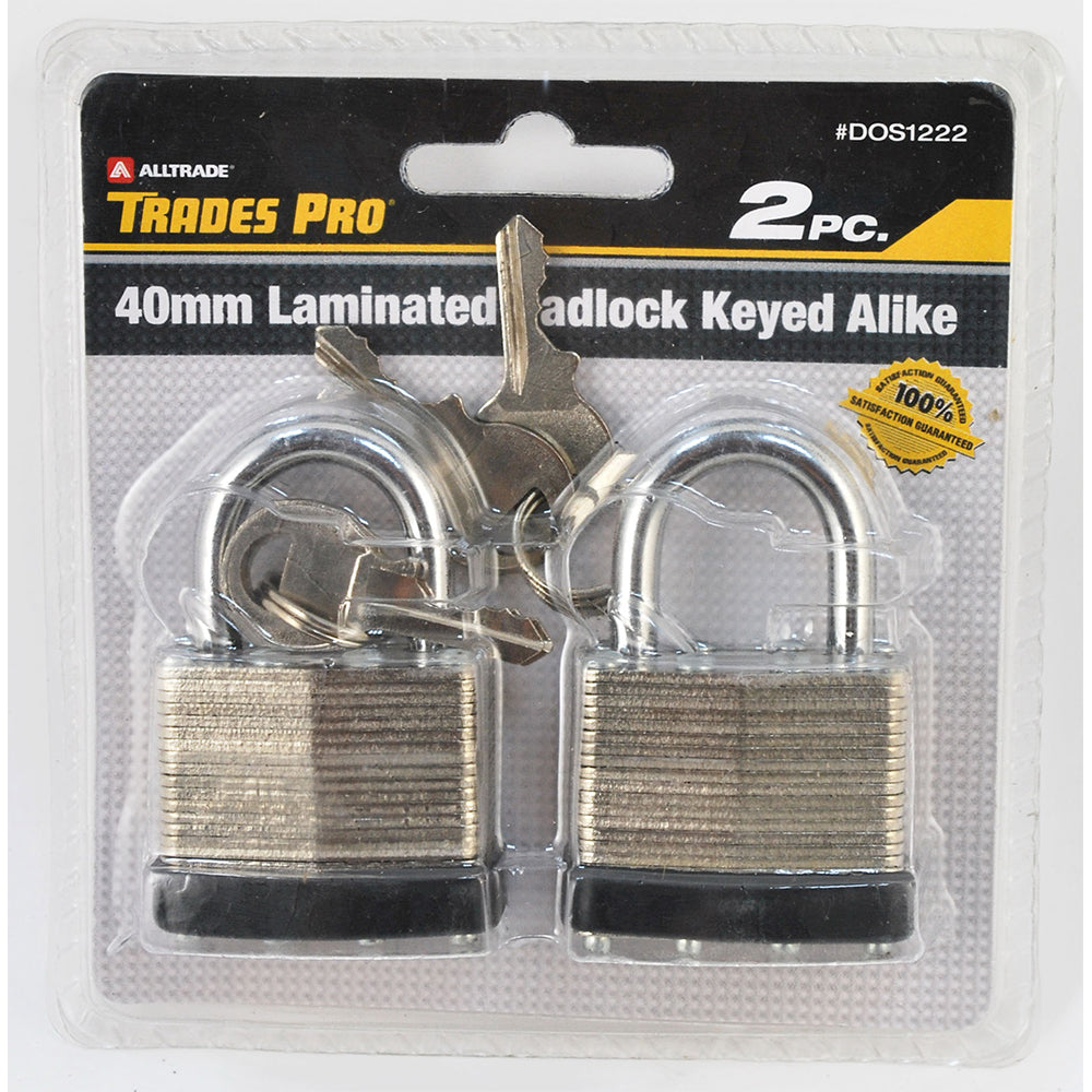 2pc Padlock, Keyed Alike - Online Tools