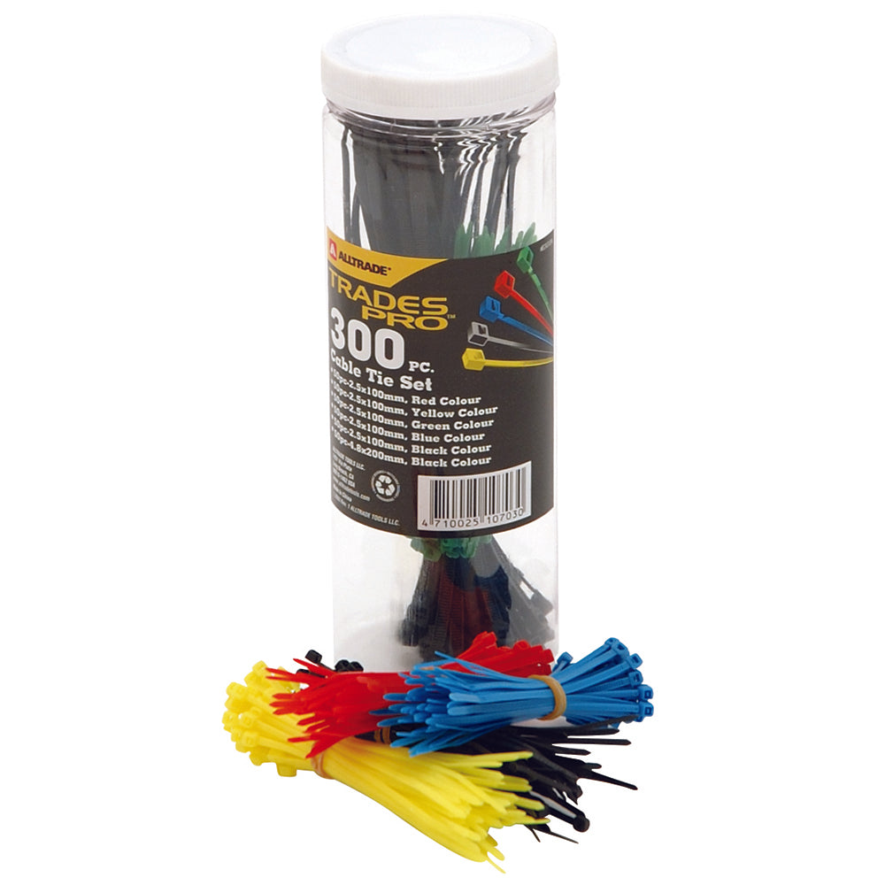 300pc Assorted Cable Tie Set - Online Tools