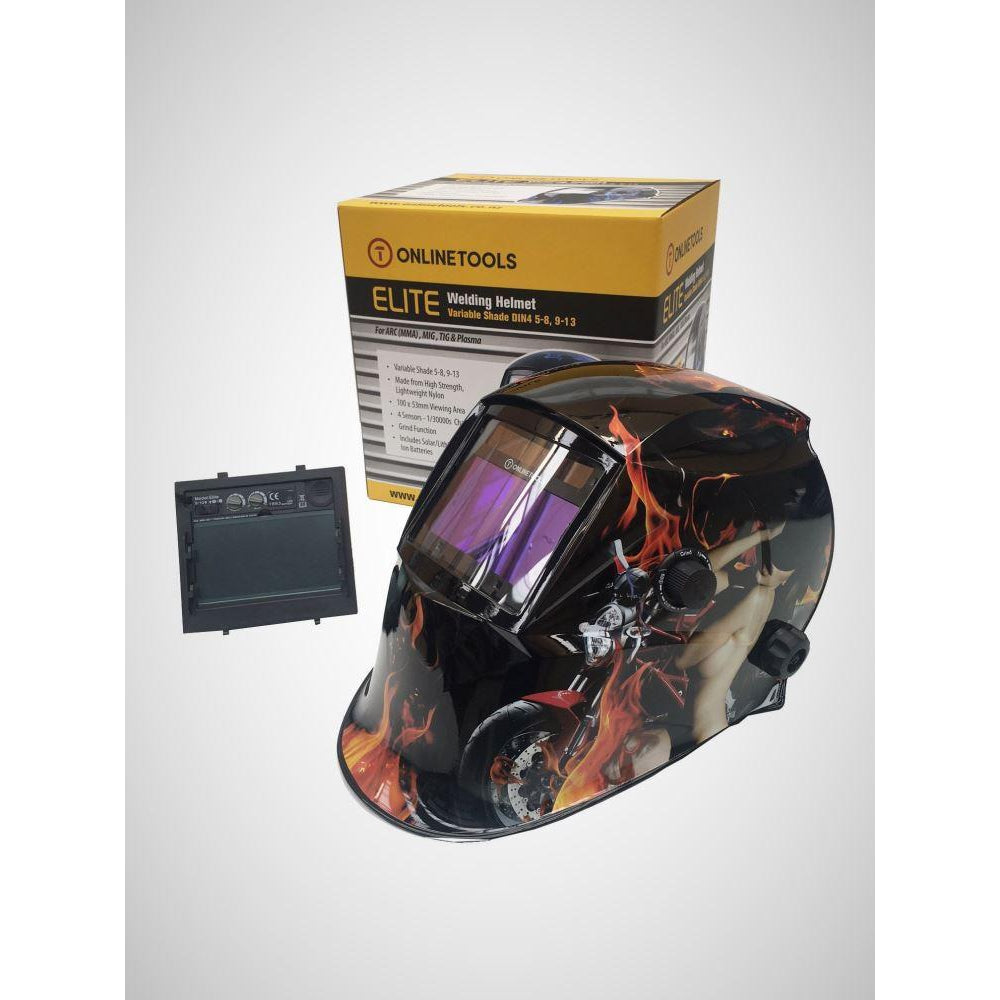 Auto Darkening Welding Helmet  4 SENSORS - Sports Girl Elite-Professional TRUE COLOR