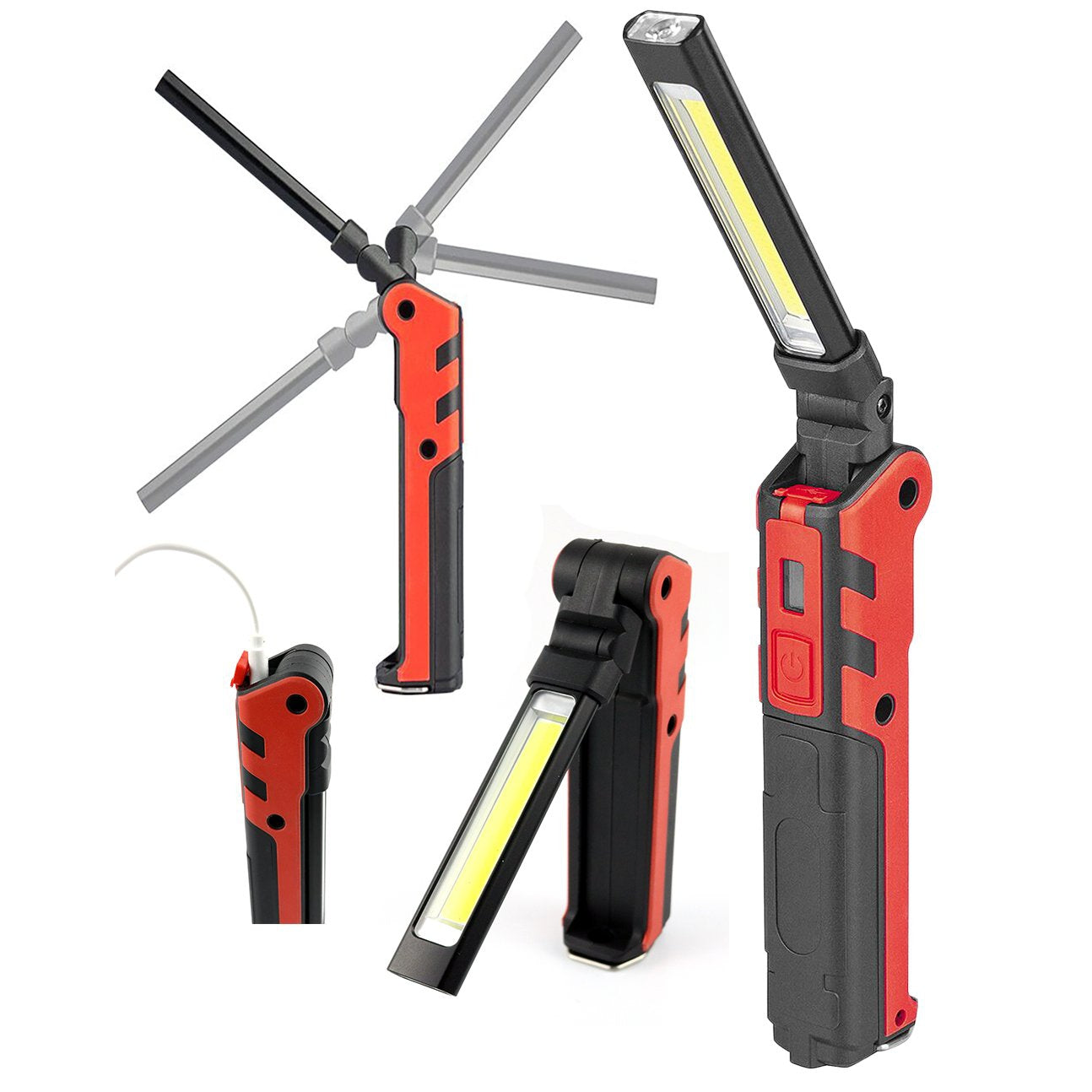 LED Rechargeable Foldable Dual Work Light - Online Tools - OnlineTools