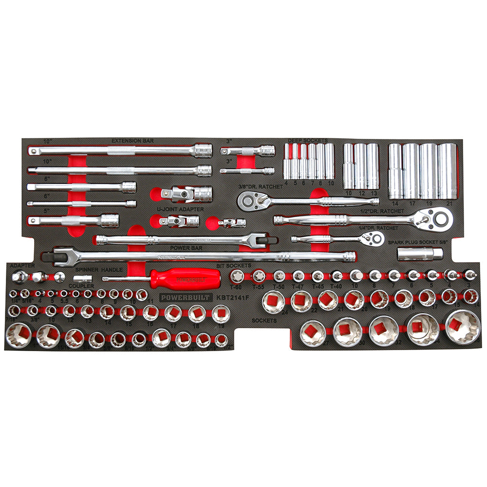Powerbuilt 94pc Socket, Driver & Accessory Tray - Online tools