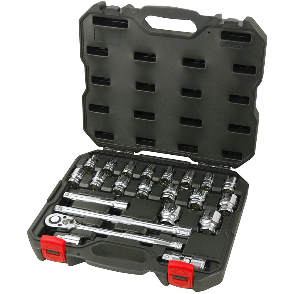"1/2"" Dr 23pc Metric Socket Set - Online Tools"