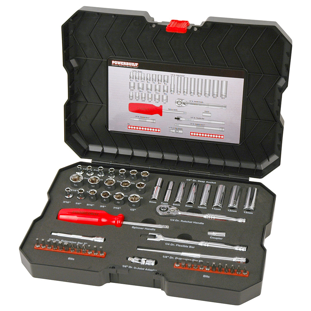 "1/4"" Dr 58pc Combination Socket Set  - Online Tools"
