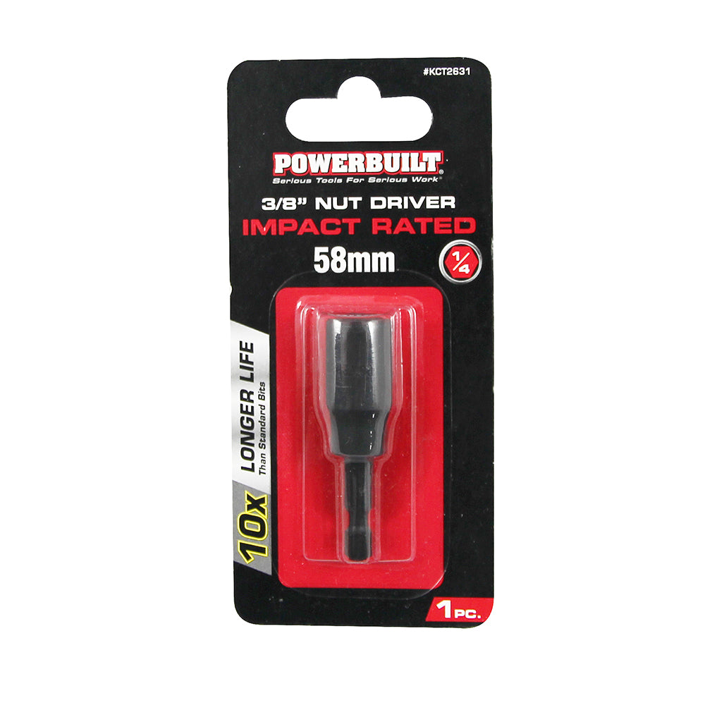 "1/4"" Nut Driver - 3/8"" x 58mm Long - Online Tools"