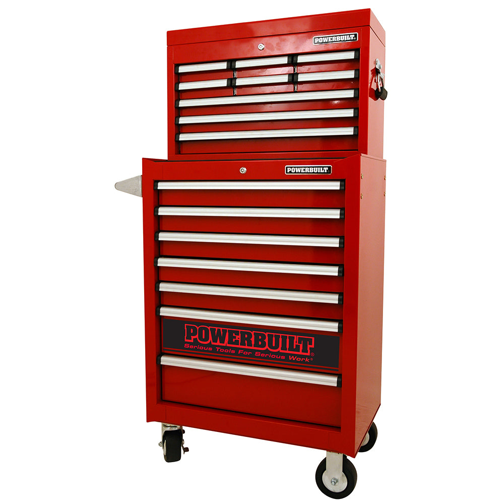 Powerbuilt 2pc COMBO Storage Units - Racing Series Red--Onlinetools