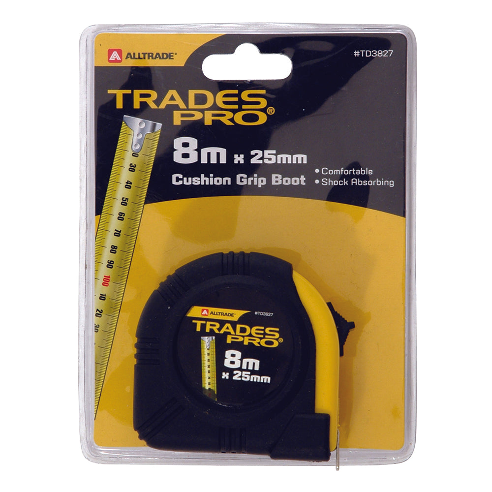 8M x 25mm Metric Steel Tape Measure  - Online Tools