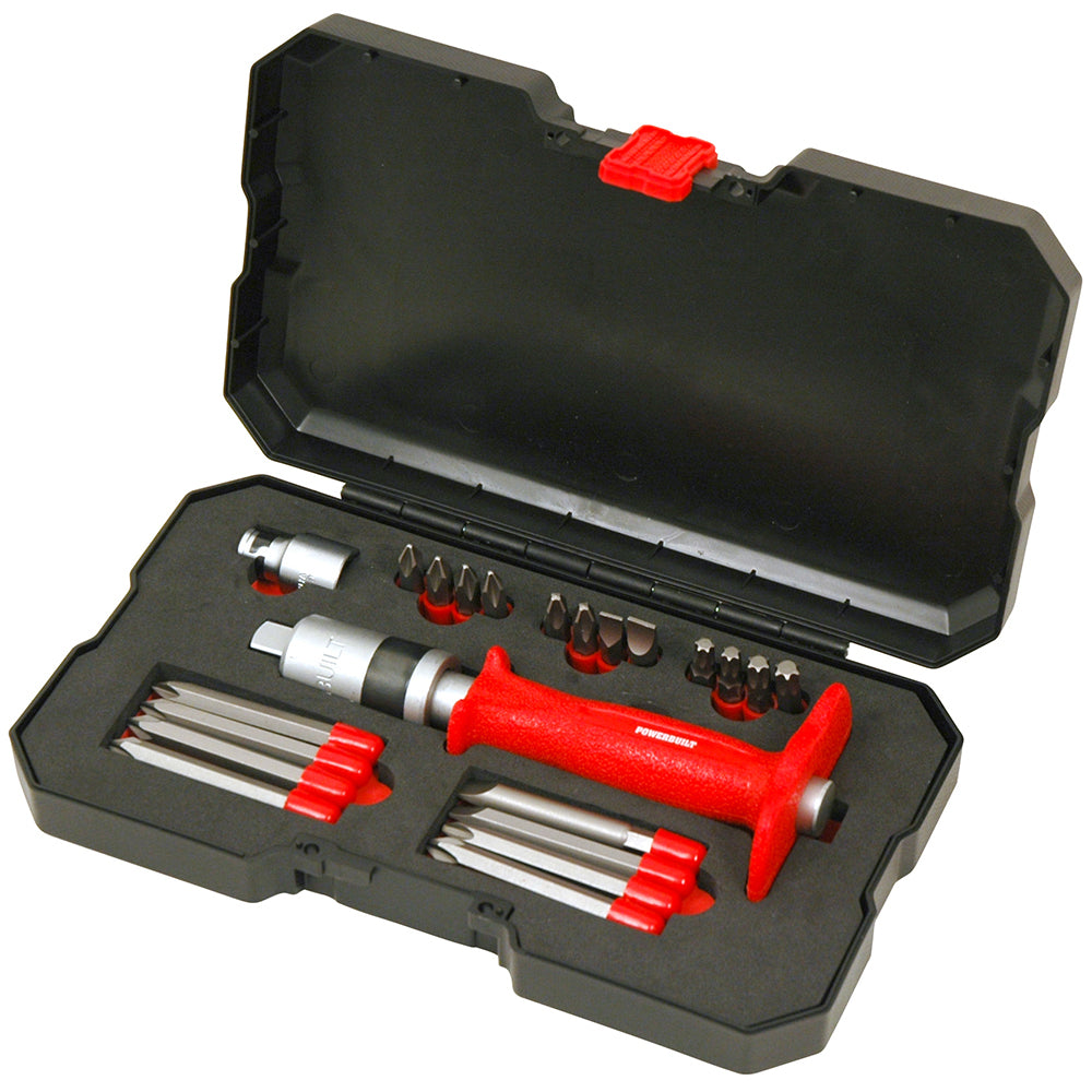 "1/2"" Dr 22pc Impact Driver with Assorted Bits - Online Tools"