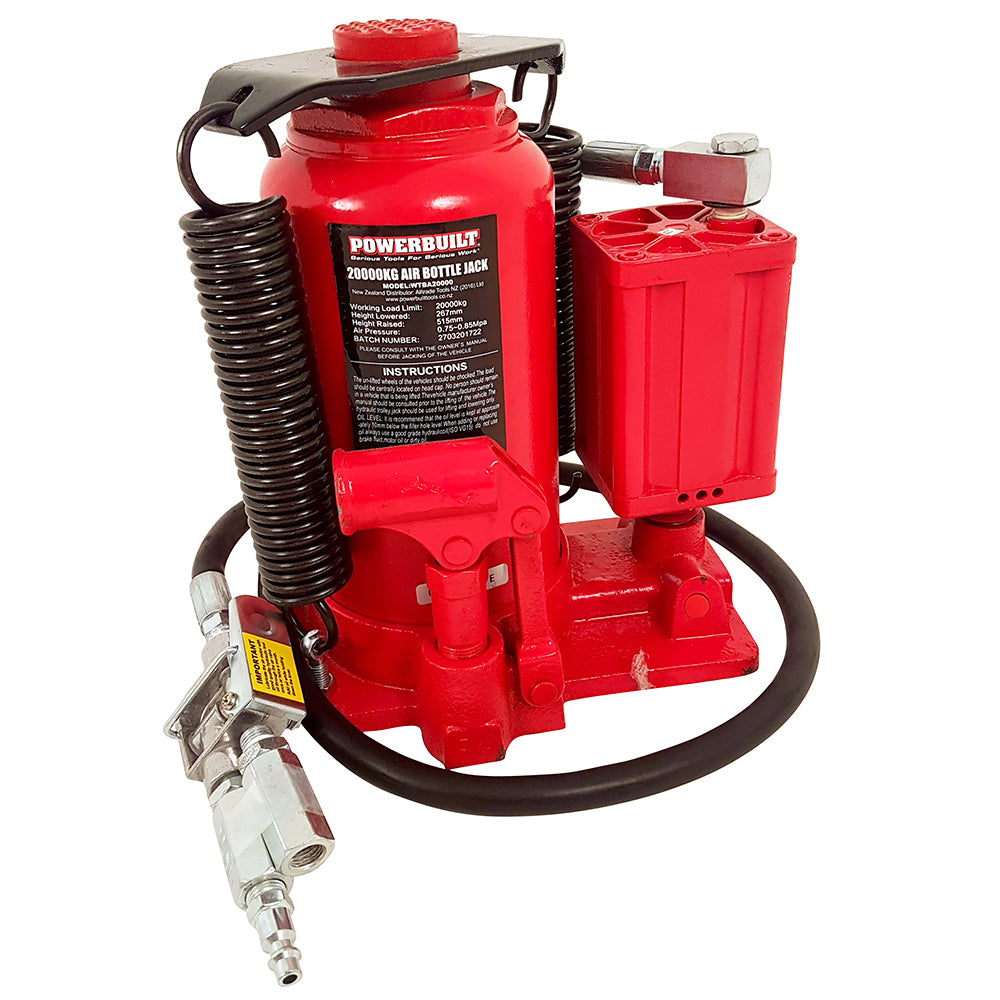 22 Ton / 20000kg Air Hydraulic Bottle Jack - Online Tools