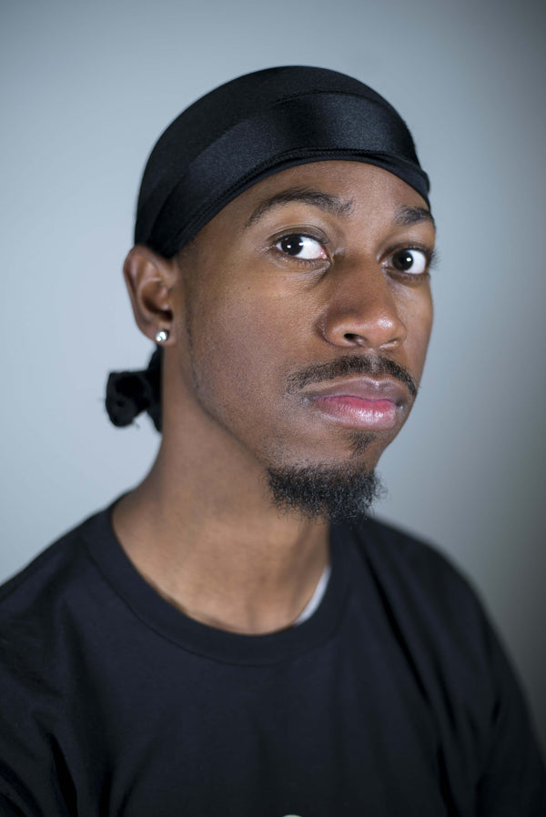 Black Custom Wave Durag (360 Waves) - The Royalty Rag