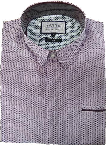 Astin Smith Dot Print LS Shirt