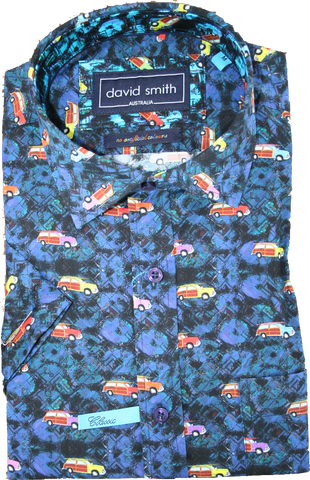 David Smith Wooden Panel Van SS Shirt
