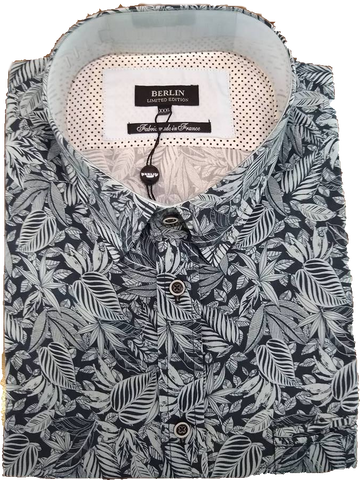 Berlin Leaf Print SS Shirt