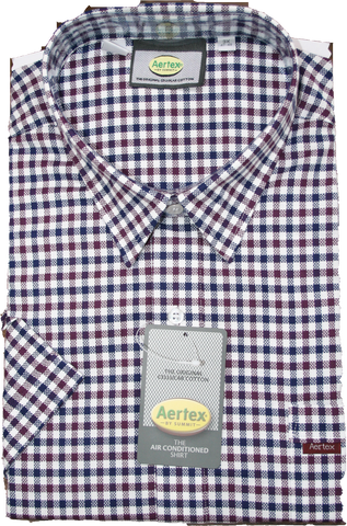 Aertex 2 Coloured Check SS Shirt