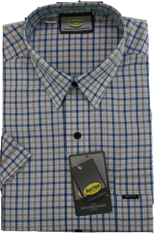Aertex Navy/Blue Check Shirt