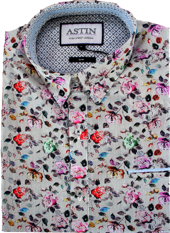 Astin Smith Floral LS Shirt