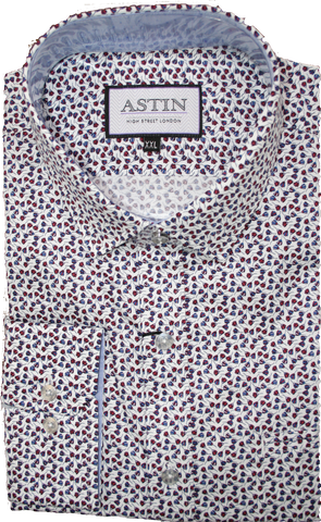 Astin Smith Floral Print LS Shirt