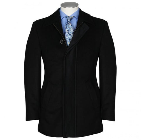 Rembrandt Winton Black Melton Overcoat BP98/99 Black