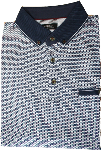 Berlin Navy/White SS Polo