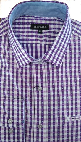 Berlin Mauve Check LS Shirt