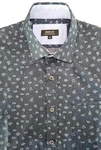 Berlin Navy Floral LS Shirt