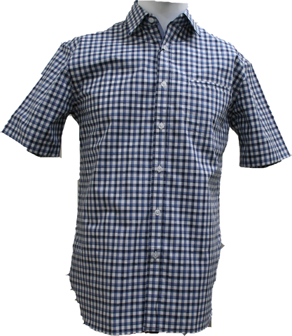 Berlin SS Shirt Navy Check