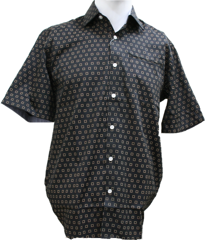 Berlin SS Casual Shirt Square Print
