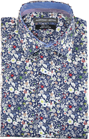 Geoffrey Beene Superlight Floral LS Shirt