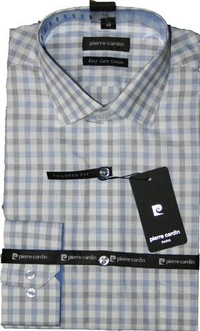 Pierre Cardin Blue Check Business Shirt
