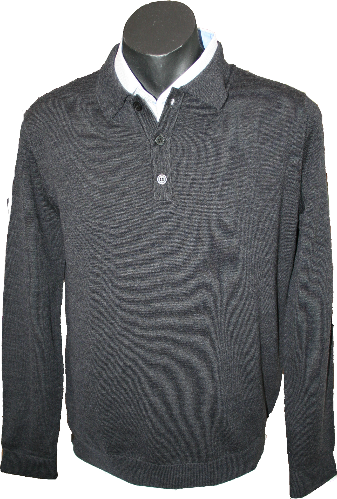 5fd23103a Sovrano Knitted Polo Jumper – Alexander's Menswear Hastings