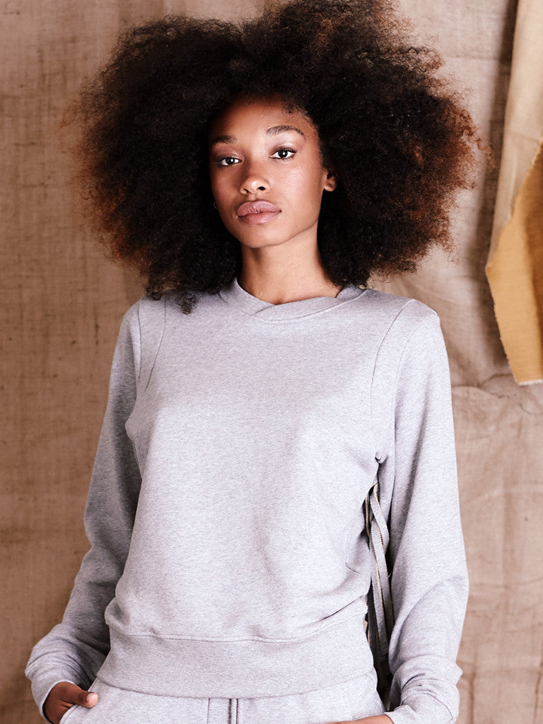 Fringed Sweatshirt (Grey)