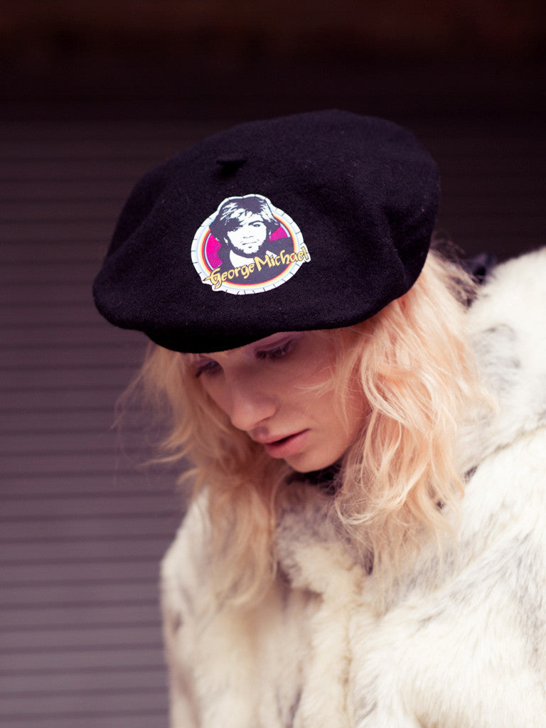 Wool Beret with Vintage GM Patch