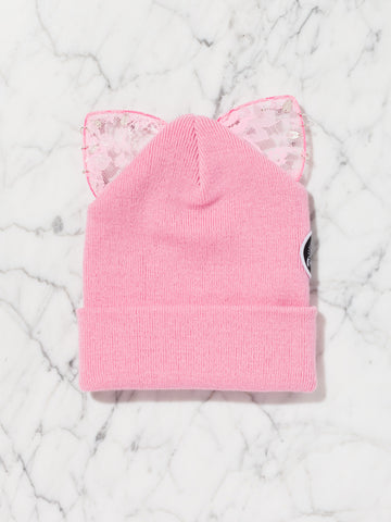 Bad Kitty Beanie (All Pink)
