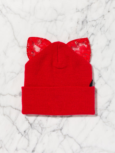Bad Kitty Beanie (All Red)