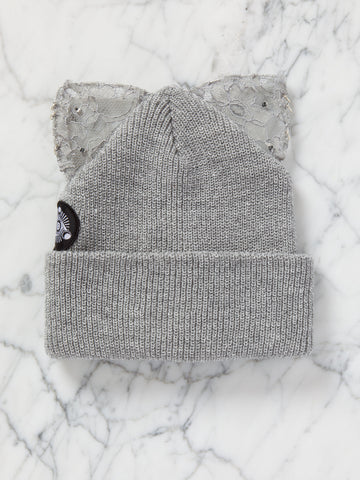 Bad Kitty Beanie (All Grey)