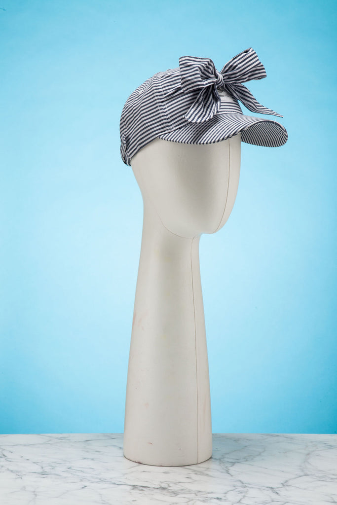 Striped Bow Cap