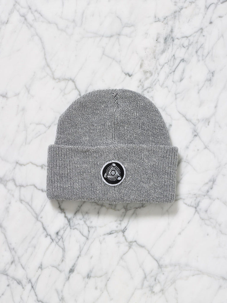 Eye Badge Beanie (Grey Marl)