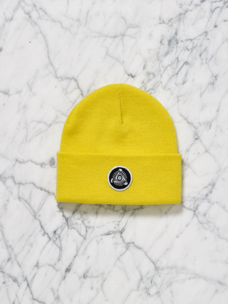 Eye Badge Beanie (Yellow)